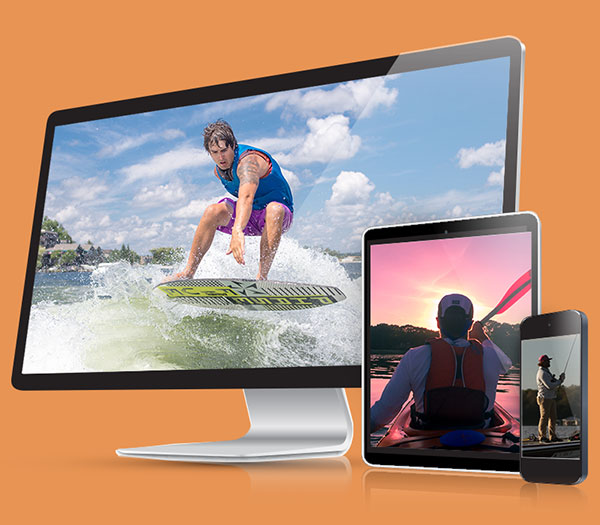 custom websites for lake business
