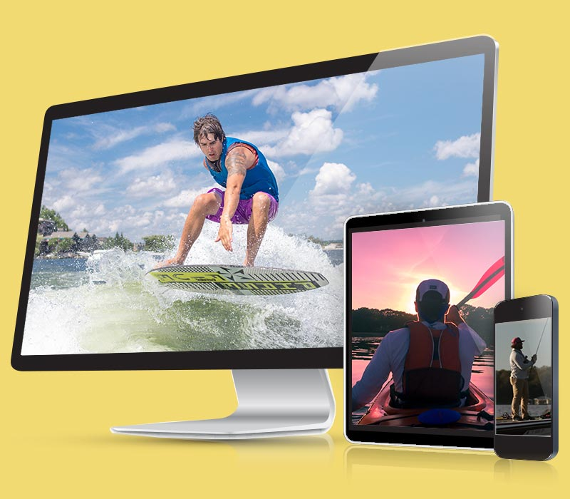 custom websites for lake businesses